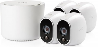 Save £69 at Ebuyer on Arlo HD Smart Home Security Cameras | Wire-Free | Night Vision | Indoor/Outdoor | HD | Free Cloud Storage Included | 4 Camera Kit | VMS3430