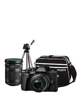 Save £100 at Very on Olympus Om-D E-M10 Mk Iii Compact System Camera Traveller Kit (Black) Inc 14-42Mm+40-150Mm Lenses, Tripod, Bag