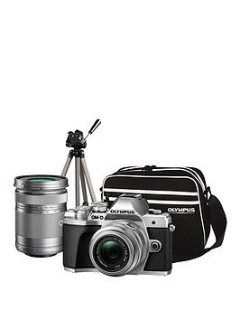 Save £100 at Very on Olympus Om-D E-M10 Mk Iii Compact System Camera Traveller Kit (Silver) Inc 14-42Mm+40-150Mm, Tripod, Bag