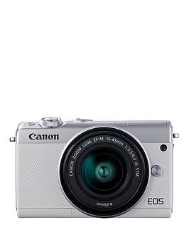 Save £60 at Very on Canon Eos M100 Csc Camera Kit Inc 15-45Mm Lens - White