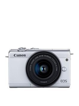 Save £50 at Very on Canon Canon Eos M200 Csc White Camera Inc Ef-M 15-45Mm Silver Lens Kit