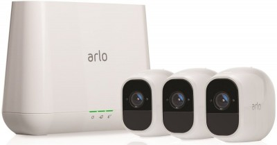 Save £186 at Ebuyer on Arlo Pro2 Smart Home Security Cameras | Alarm | Rechargeable | Night Vision | Indoor/Outdoor | 1080p | 2-Way Audio | Free Cloud Storage Included | 3 Camera Kit | VMS4330P