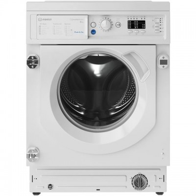 Save £40 at AO on Indesit BIWMIL81284UK Integrated 8Kg Washing Machine with 1200 rpm - White - A+++ Rated