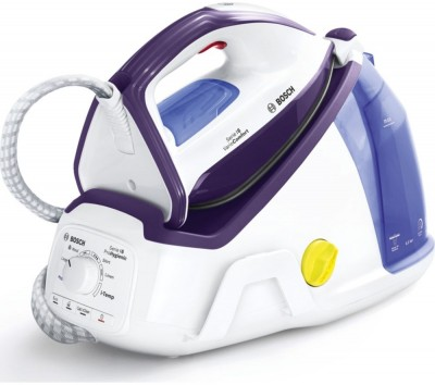 Save £100 at Currys on BOSCH Vario Comfort TDS6080GB Steam Generator Iron - White & Violet, White