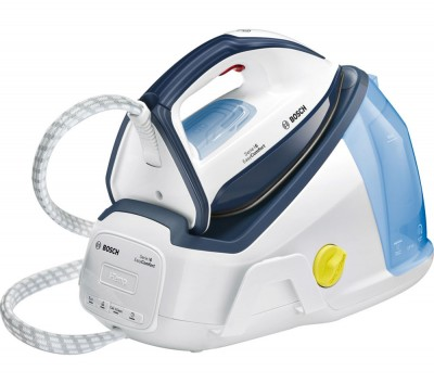 Save £100 at Currys on BOSCH Easy Comfort TDS6010GB Steam Generator Iron - White & Blue, White