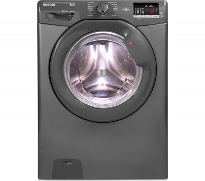 Save £50 at Currys on Hoover Link DHL 1682D3R NFC 8 kg 1600 Spin Washing Machine - Graphite, Graphite