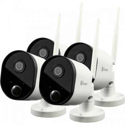 Save £193 at AO on Swann Wi-Fi Outdoor Security Camera (4 Pack) Full HD 1080p - White