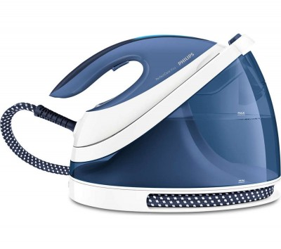 Save £132 at Currys on PHILIPS PerfectCare Viva GC7057/20 Stream Generator Iron - Blue, Blue
