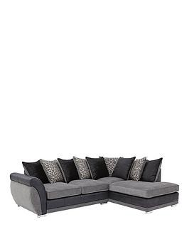 Save £200 at Very on Hilton Fabric And Faux Leather Right Hand Corner Chaise Sofa
