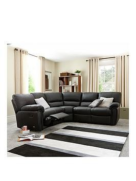 Save £200 at Very on Leighton Leather/Faux Leather Reclining Corner Group Sofa