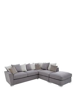 Save £300 at Very on Links Right Hand Corner Chaise Scatter Back Sofa With Footstool And Sofa Bed