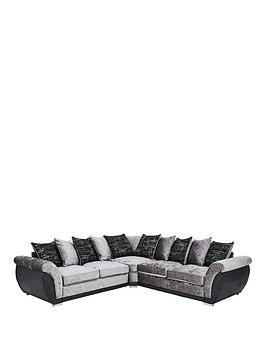Save £200 at Very on Alexa Fabric And Faux Leather Scatter Back Corner Group Sofa