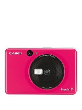 Save £41 at Very on Canon Canon Zoemini C Pocket Size 2-In-1 Instant Camera Printer - Bubble Gum Pink - Zoemini C Instant Camera With 60 Pack Paper