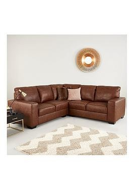 Save £200 at Very on Hampshire Premium Leather Corner Group Sofa