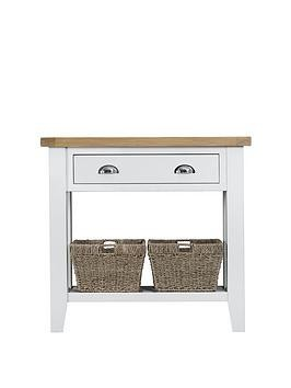 Save £50 at Very on K-Interiors Harrow Part Assembled Console Table - White/Oak