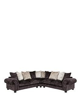 Save £180 at Very on Laurence Llewelyn-Bowen Scarpa Large Fabric Scatter Back Corner Group Sofa