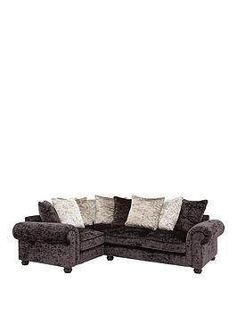 Save £140 at Very on Laurence Llewelyn-Bowen Scarpa Left-Hand Double Arm Fabric Corner Group Sofa