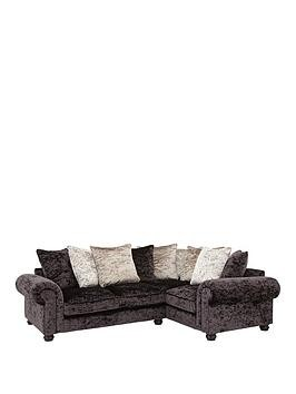 Save £140 at Very on Laurence Llewelyn-Bowen Scarpa Right-Hand Double Arm Fabric Scatter Back Corner Group Sofa