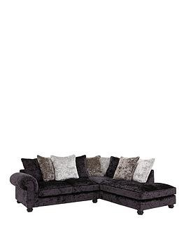 Save £190 at Very on Laurence Llewelyn-Bowen Scarpa Fabric Scatter Back Right Hand Corner Chaise Sofa