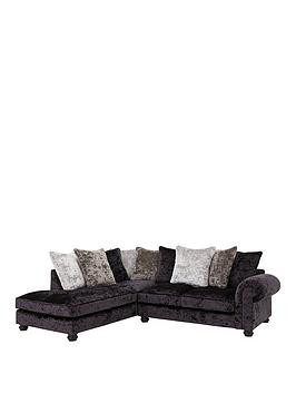 Save £190 at Very on Laurence Llewelyn-Bowen Scarpa Fabric Scatter Back Left Hand Corner Chaise Sofa