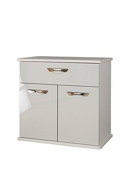 Save £20 at Very on Swift Neptune Ready Assembled High Gloss Compact Sideboard - Grey