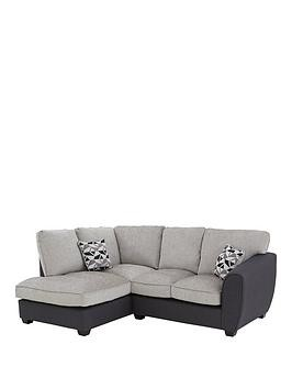 Save £240 at Very on Juno Fabric Compact Standard Left Hand Corner Chaise Sofa