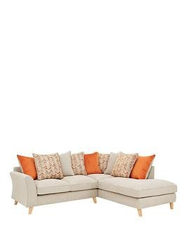 Save £290 at Very on Legato Right Hand Fabric Scatter Back Corner Chaise Sofa