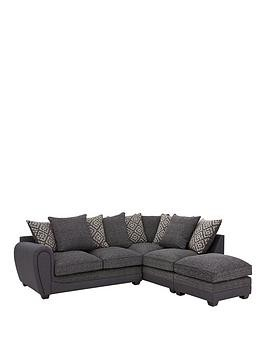 Save £790 at Very on Harrison Compact Fabric Right Hand Corner Chaise Scatter Back Sofa With Footstool
