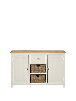 Save £50 at Very on Luxe Collection - Clovely Painted Ready Assembled Large Sideboard With Storage Baskets