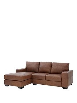 Save £200 at Very on Hampshire 3 Seater Left Hand Premium Leather Corner Chaise Sofa