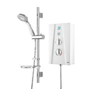 Save £20 at Wickes on Wickes Hydro Digital Electric Shower & Adjustable Riser Kit - White 8.5kW
