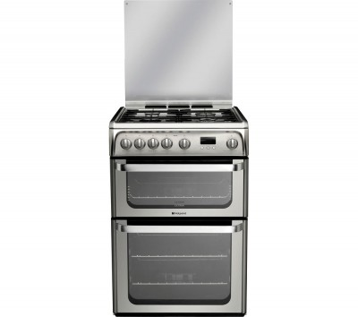 Save £50 at Currys on HOTPOINT Ultima HUG61X 60 cm Gas Cooker - Stainless Steel, Stainless Steel