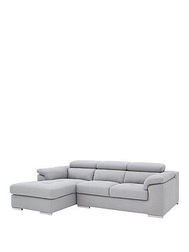 Save £300 at Very on Brady 3 Seater Left Hand Fabric Corner Chaise Sofa