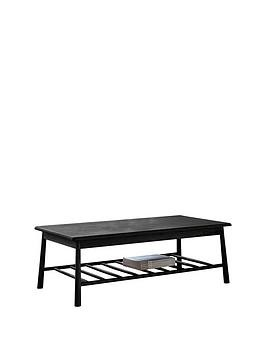 Save £50 at Very on Hudson Living Wycombe Solid Oak Coffee Coffee Table - Black