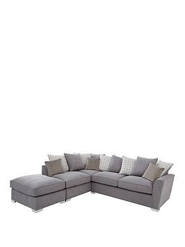 Save £300 at Very on Links Left Hand Corner Chaise Scatter Back Sofa With Footstool And Sofa Bed