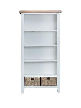 Save £100 at Very on K-Interiors Harrow Ready Assembled Large Bookcase - White/Oak