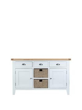 Save £120 at Very on K-Interiors Harrow Ready Assembled Large Sideboard - White/Oak