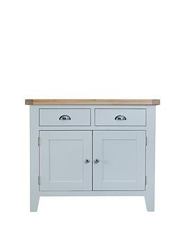 Save £90 at Very on K-Interiors Harrow Ready Assembled 2 Drawer, 2 Door Sideboard - Grey/Oak