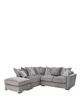 Save £140 at Very on Kingston Fabric Left Hand Scatter Back Corner Chaise Sofa Bed With Footstool