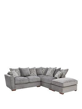 Save £140 at Very on Kingston Fabric Right Hand Scatter Back Corner Chaise Sofa Bed With Footstool