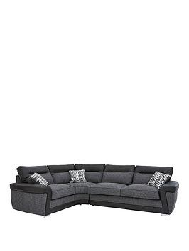 Save £150 at Very on Geo Fabric And Faux Leather Left-Hand Corner Group Sofa