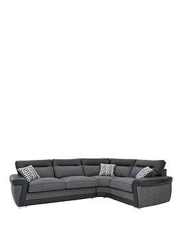 Save £150 at Very on Geo Fabric And Faux Leather Right-Hand Corner Group Sofa
