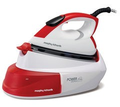 Save £30 at Currys on MORPHY RICHARDS Power Steam Intellitemp 333006 Steam Generator Iron - White & Red