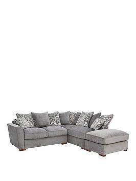 Save £120 at Very on Kingston Fabric Right Hand Scatter Back Corner Chaise Sofa With Footstool