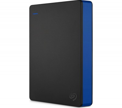 Save £10 at Currys on SEAGATE Gaming Portable Hard Drive for PS4 - 4 TB, Black, Black