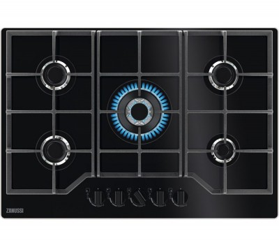 Save £40 at Currys on ZANUSSI ZGGN755K Gas Hob - Black, Black