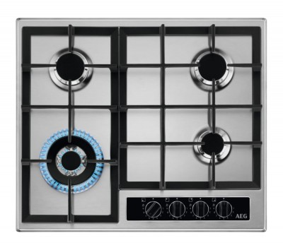 Save £40 at Currys on AEG HGB64420YM Gas Hob - Stainless Steel, Stainless Steel