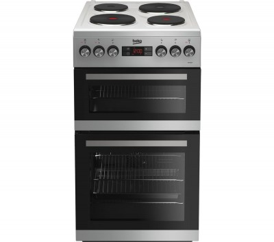 Save £39 at Currys on BEKO KDV555AS 50 cm Electric Solid Plate Cooker - Silver, Silver
