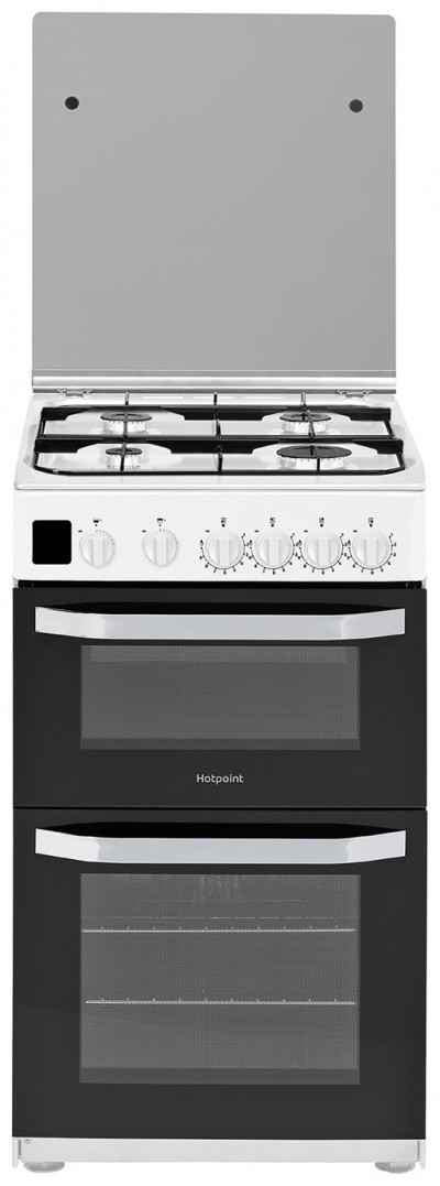 Save £60 at Argos on Hotpoint HD5G00CCW 50cm Double Oven Gas Cooker - White
