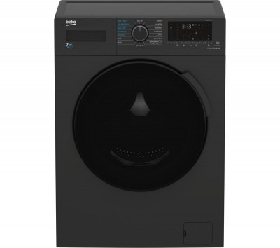 Save £70 at Currys on BEKO WDK742421A Bluetooth 7 kg Washer Dryer - Black, Black
